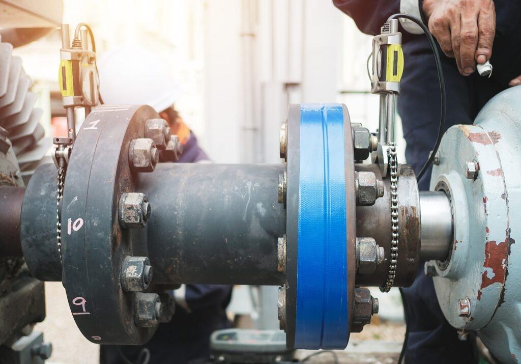 Ausrichtung der Pumpe und des Elektromotors